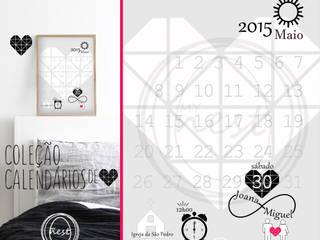 """Calendário """"Save the date"""" - """"Save the date"""" Calendar:   por MyNest,Moderno"""
