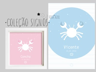 Signos do zodíaco Rosa*Azul - Zodiac signs Pink*Blue:   por MyNest