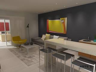 Exterior social residencia unifamiliar Casas de estilo minimalista de Arte 5 Remodelaciones Minimalista