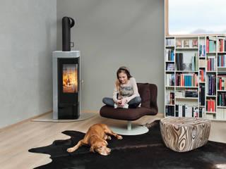 RIKA Innovative Ofentechnik GmbH ห้องนั่งเล่นเตาผิงและของตกแต่ง Black