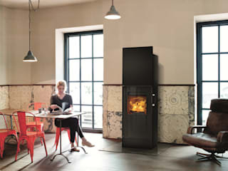 RIKA Innovative Ofentechnik GmbH ห้องนั่งเล่นเตาผิงและของตกแต่ง เหล็ก Black