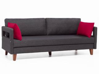 Comfort Yaşam Serisi Kırmızı Yastıklı Yataklı Kanepe K105 Mobilya Pazarlama Danışmanlık San.İç ve Dış Tic.LTD.ŞTİ. Oturma OdasıKanepe & Koltuklar Ahşap Gri