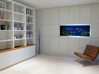 Vitro House ミニマルデザインの 書斎 の Aquarium Architecture ミニマル