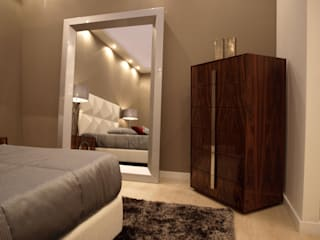 Quarto Gold por JG Mobiliário Interiores Moderno