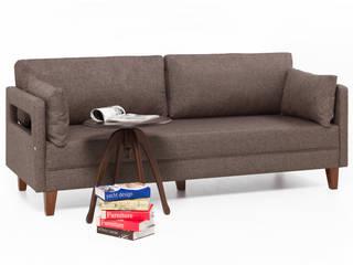 Comfort Yaşam Serisi Üçlü Kanepe Kahve K105 Mobilya Pazarlama Danışmanlık San.İç ve Dış Tic.LTD.ŞTİ. Oturma OdasıKanepe & Koltuklar Ahşap Gri