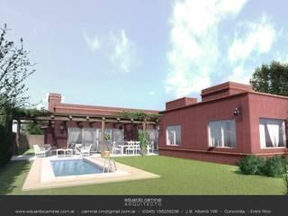 庭院 by Eduardo Caminal Arquitectura,