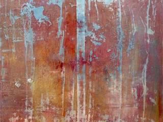 BEHIND THE WALLS SILKA SCHWIETZER ArtObjets d'art Coton Bleu