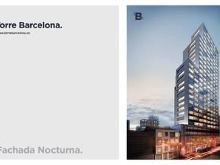 Torre Barcelona: Casas de estilo  por HMA Desarrolladores De Proyectos,