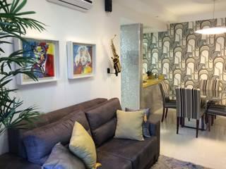 Sala com cozinha gourmet:   por Verônica Oliveira