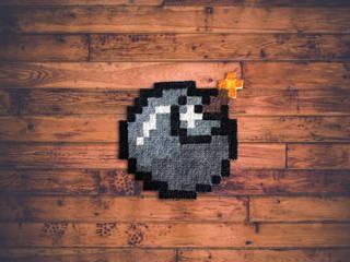 Tapis Pixel Art - Bomb! - 16x16px par Le Marcassin Ailé Éclectique