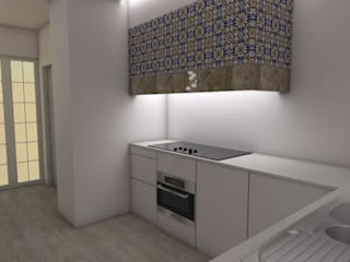 Cozinha 1:   por Quero Fazer Obras - Construção e Reabilitação Lda