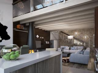Интерьер загородного дома от Архитектурное бюро Пасынков и Партнеры