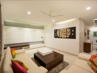 Drawing room:  Living room by ARK Architects & Interior Designers
