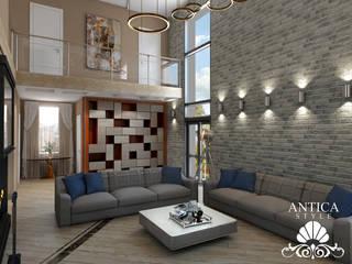 Интерьер в современном стиле: Гостиная в . Автор – Antica Style