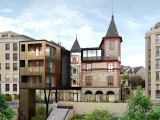 CHAVILLE - ENTENSION ET REHABILITATION D'UNE BATIMENT EXISTANT:  de style  par DDB ARCHITECTURE