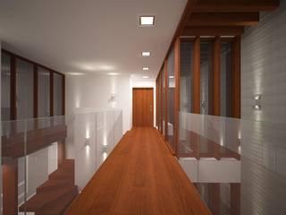 Residência Pochapski: Paredes  por Sieg Arquitetura e Construção,Eclético