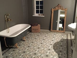 Kolory Maroka حمام بلاط Grey
