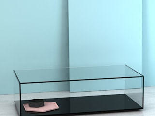 Quebec Coffee Table: minimalistic Living room by Klarity Glass Furniture