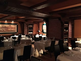 RESTAURANTE ASSUNTA MADRE - PASEO DE GRACIA BARCELONA Gastronomía de estilo rústico de LF24 Arquitectura Interiorismo Rústico