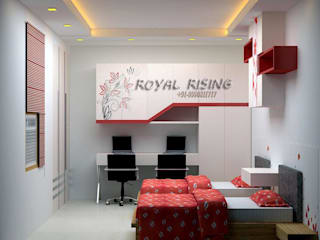 Feel Royal & luxury living in compact & narrow flat space. Modern style bedroom by Royal Rising Interiors Modern