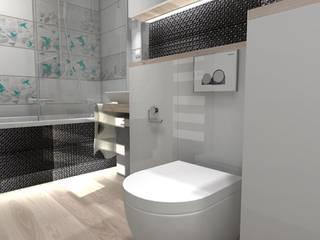 Jasna łazienka od Designbox Marta Bednarska-Małek