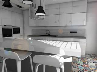 Biała kuchnia od Designbox Marta Bednarska-Małek