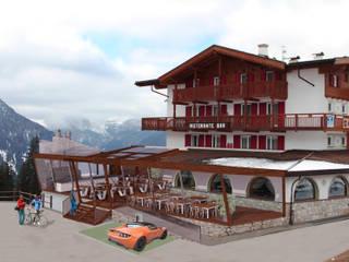 TERRAZZA HOTEL BELLAVISTA A CANAZEI: Terrazza in stile  di CPstudio46