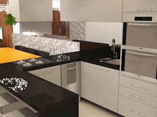 Arquiteto Virtual - Projetos On lIne Modern kitchen Grey