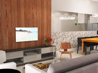 Salones de estilo moderno de Arquiteto Virtual - Projetos On lIne Moderno