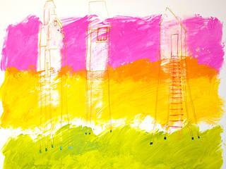 """""""Trois cabanes"""":  de style  par FESTOR Astrid"""