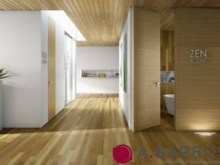 A.Barbosa Corridor, hallway & stairsStorage Solid Wood Wood effect