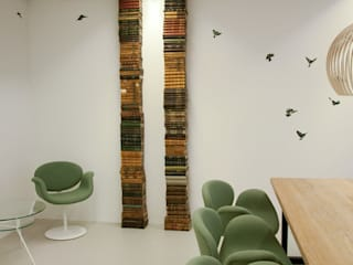 Sparrow wallpaper by Snijder&CO at an office van Snijder&CO
