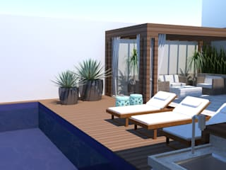 Piscinas de estilo moderno de Arquiteto Virtual - Projetos On lIne Moderno