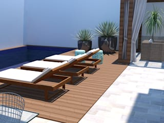 Arquiteto Virtual - Projetos On lIne Modern pool Wood Wood effect