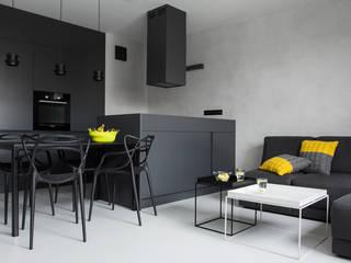 CC /_\ Concrete Concept by KASIA ORWAT design Minimalistyczny salon od WERONIKA TROJANOWSKA photographer Minimalistyczny