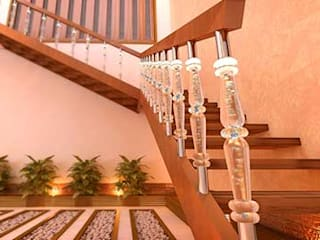 Interior designs Modern corridor, hallway & stairs by my home worker Modern