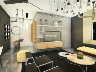 Salas de estilo moderno de Crush Mango Moderno