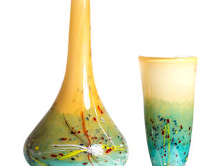 Línea de mesa de vizz glass Moderno