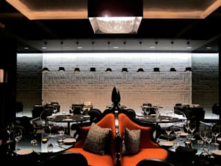 Deep Sky crystal chandelier in Ritz Carlton Hotel in Bahrain, Manama Manooi Hotel Modern Transparent
