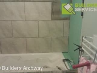 Tiling Services in Archway Modern bathroom by Builders Archway Modern