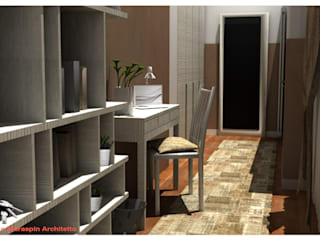 Modern corridor, hallway & stairs by MmArchi. I Monica Maraspin Architetto Modern