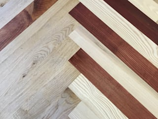 Colored parquet flooring :   by TF