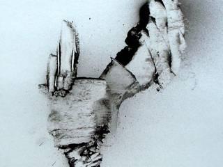 Peinture abstraite noir et blanc Guenzone ArtObjets d'art