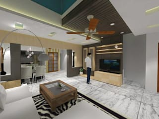 Interiors Modern living room by riiTiH Architects Modern
