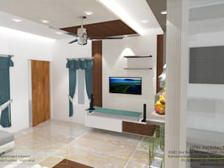 Flat Interiors Modern living room by riiTiH Architects Modern