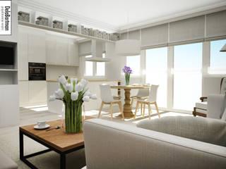 Stół przy oknie : styl , w kategorii Salon zaprojektowany przez DelaBartman