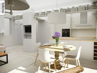 Mieszkanie inspirowane stylem Hampton: styl , w kategorii Jadalnia zaprojektowany przez DelaBartman