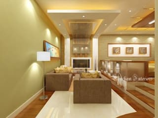 Living Area designs:  Living room by Pancham Interiors