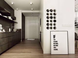 現代廚房設計點子、靈感&圖片 根據 KAEL Architekci 現代風