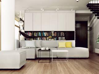 Modern living room by KAEL Architekci Modern